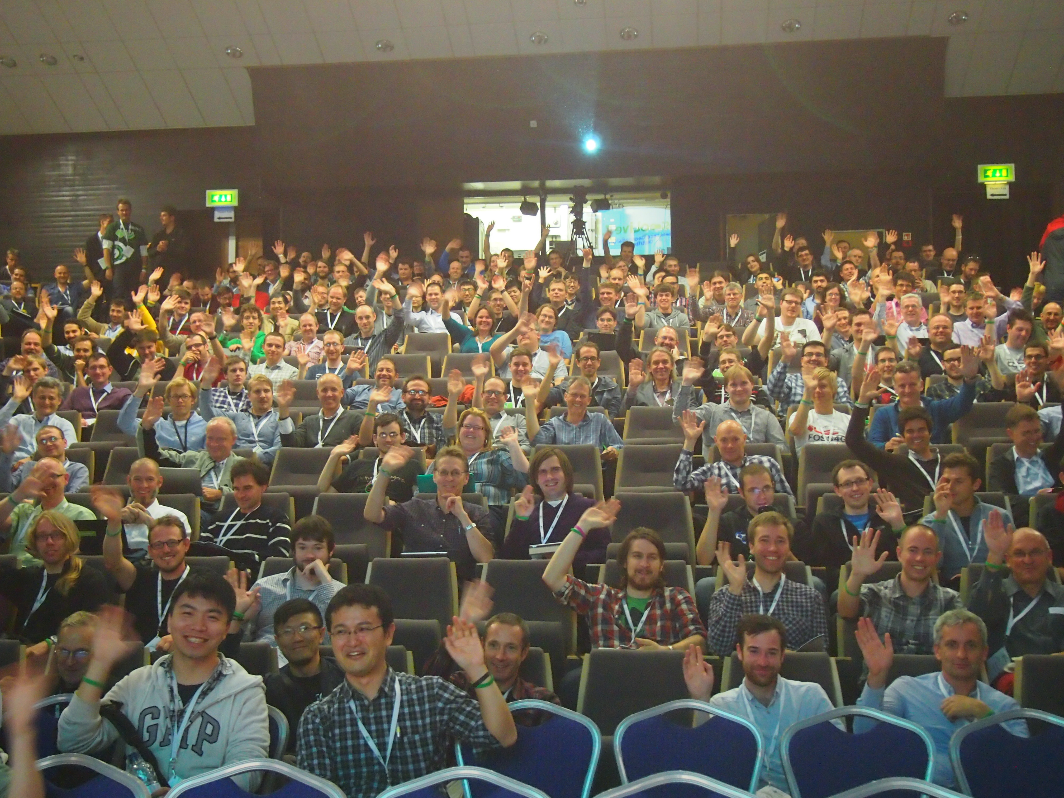 The view from the stage at FOSS4G 2013, photo by me